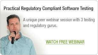 On-demand-webinar: Practical Regulatory Compliant Software Testing